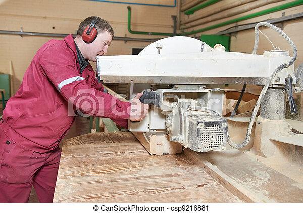 closeup carpentry wood cross cutting - csp9216881