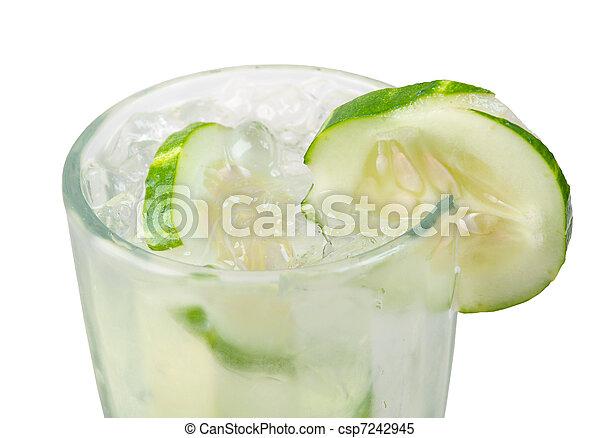 closeup, concombre, cocktail - csp7242945