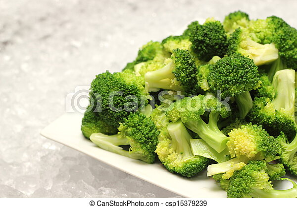 closeup detail of boiled broccoli  - csp15379239