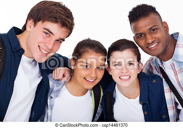 Bild von lächelnden Schülern - csp14461370