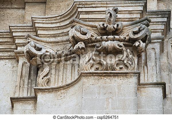 Closeup of a column. - csp5264751