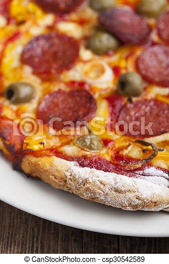 closeup of a pizza - csp30542589