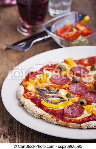 closeup of a pizza - csp26966595