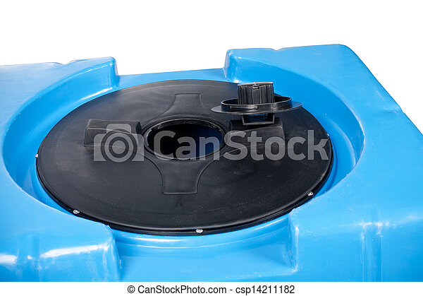 Closeup of big plastic container - csp14211182
