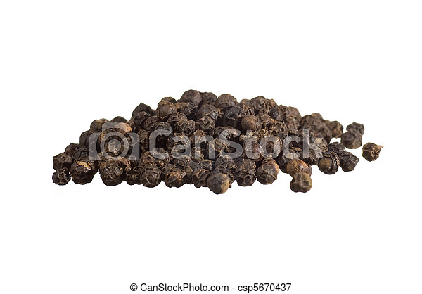 Closeup of black pepper - csp5670437
