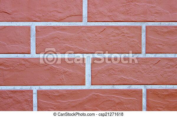 Closeup of brick wall as texture - csp21271618
