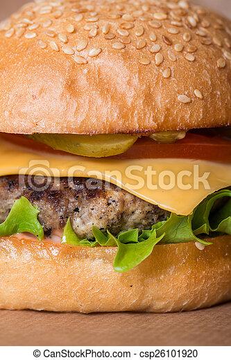 Closeup of classic burger - csp26101920
