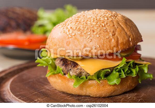 Closeup of classic burger - csp26102004