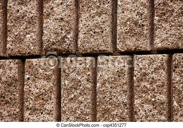Closeup of Cut Block Wall - csp4351277