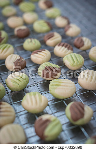 Closeup of fantasy cookie on a grate - csp70832898