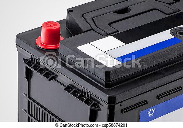closeup of the car battery - csp58874201