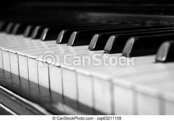 Closeup of the old piano - csp63211109
