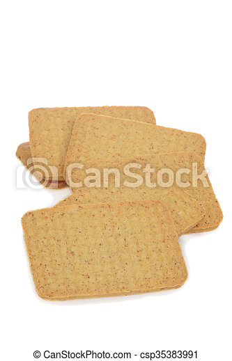 closeup of whole wheat cookie - csp35383991