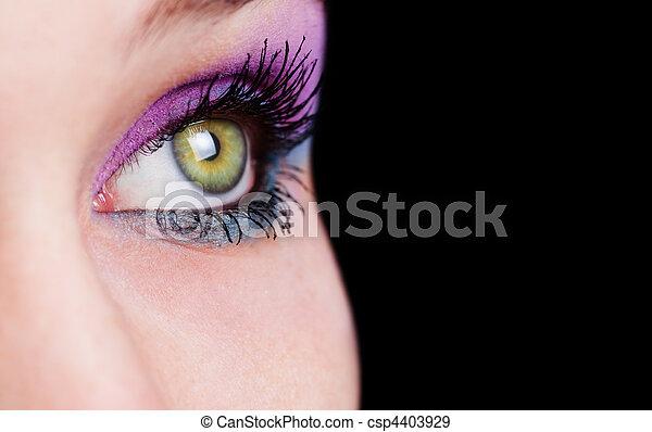 Closeup on eye with beautiful makeup - csp4403929