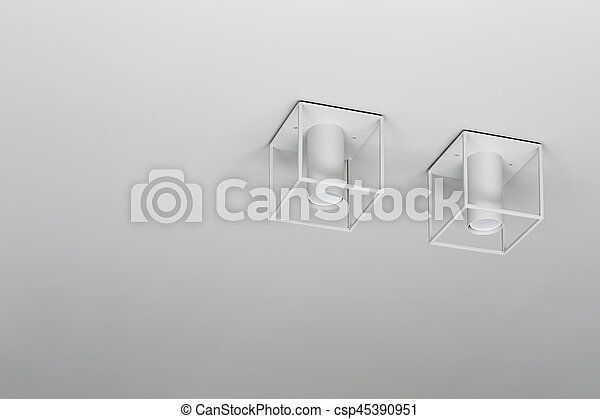 Closeup photo of hanging lamps - csp45390951