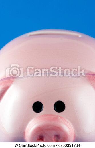 Closeup Piggy Bank - csp0391734