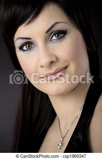 Closeup portrait of woman - csp1960347