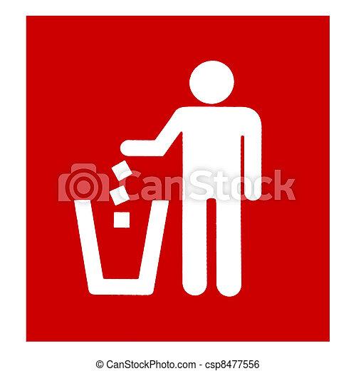 Closeup red garbage disposal - csp8477556