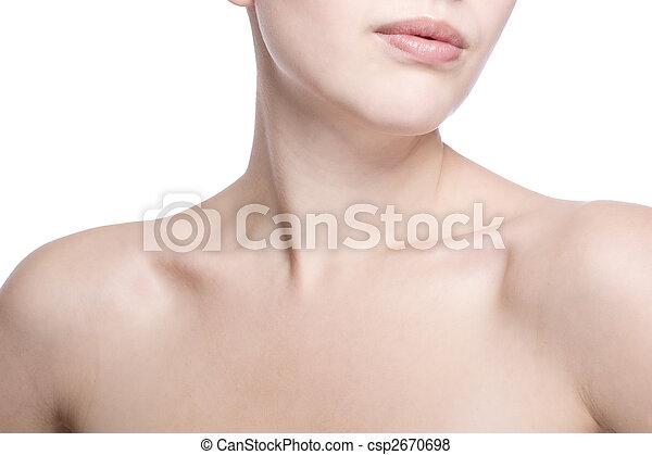 closeup shot of neck and shoulder - csp2670698