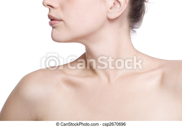 closeup shot of neck and shoulder - csp2670696