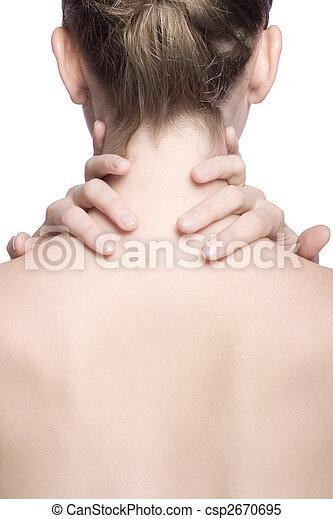 closeup shot of neck and shoulder - csp2670695