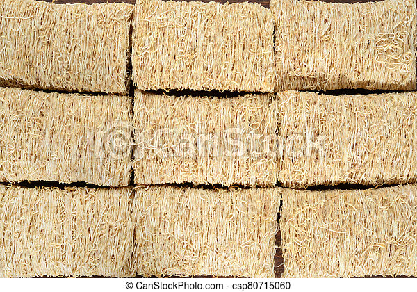 closeup shredded wheat cereal background - csp80715060