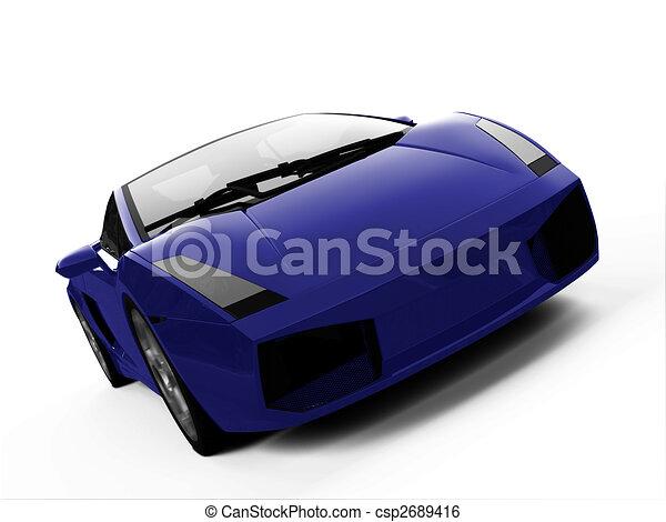 closeup, sportcar, isolado, vista - csp2689416