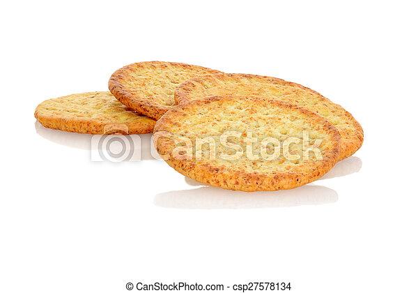closeup whole wheat crackers - csp27578134