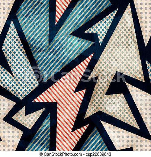 cloth geometric seamless pattern with grunge effect - csp22889843