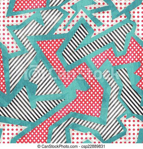 cloth geometric seamless pattern with grunge effect - csp22889831