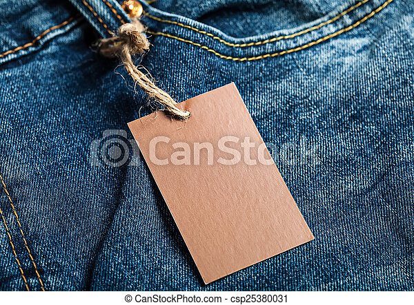Cloth label blank brown mockup - csp25380031