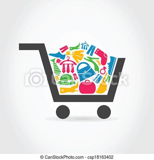 Clothes a cart - csp18163402