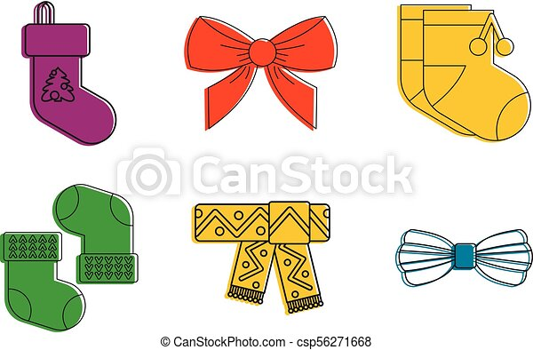clothes accesories icon set color outline style name icon clip rh canstockphoto ca Hair Brush Clip Art Shirt and Pants Clip Art