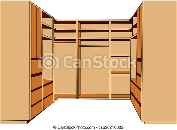Clothes Closet Isolated On A White Background
