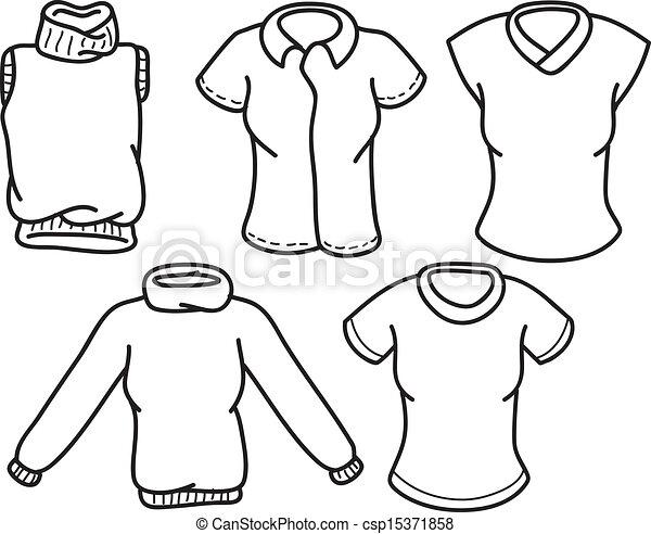 clothes doodle - csp15371858