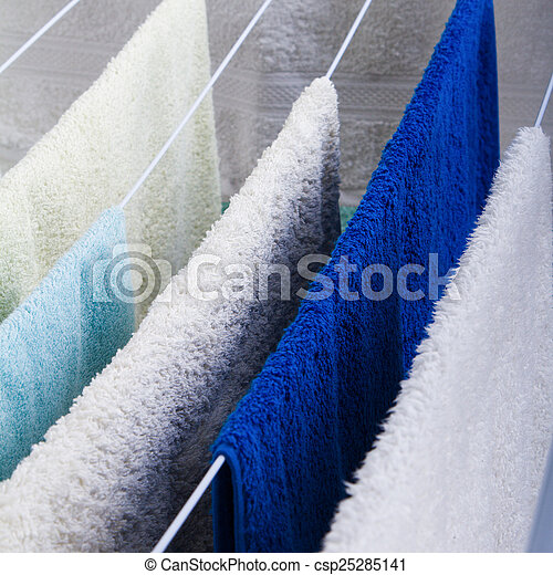 Clothes drying - csp25285141