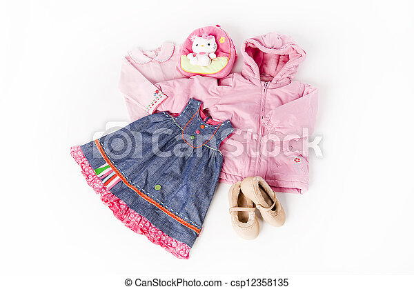 Clothes for little cute girl - csp12358135