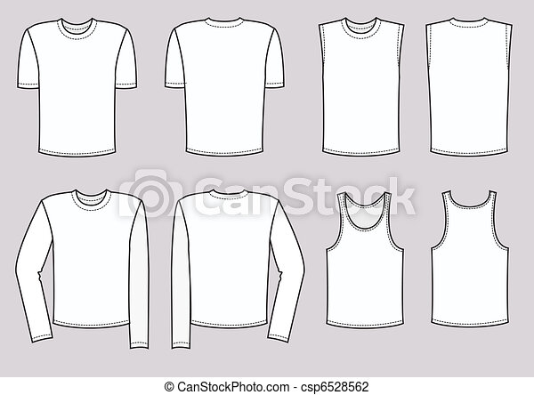 Clothes for men illustration. Vector clothing - csp6528562