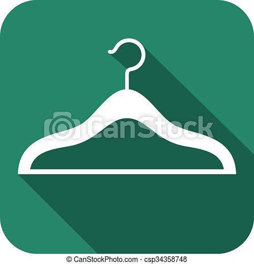 clothes hangers flat icon - csp34358748