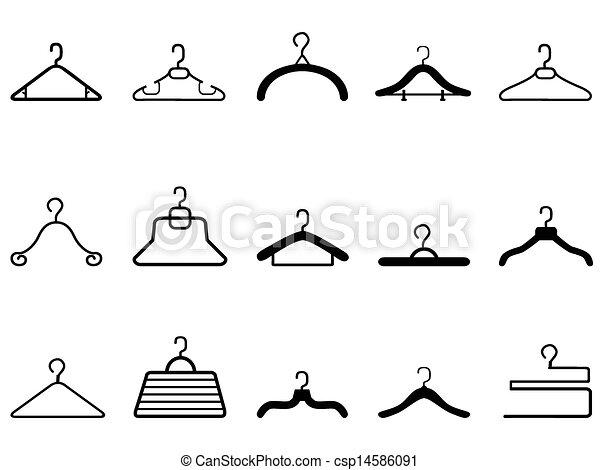 clothes hangers icon  - csp14586091
