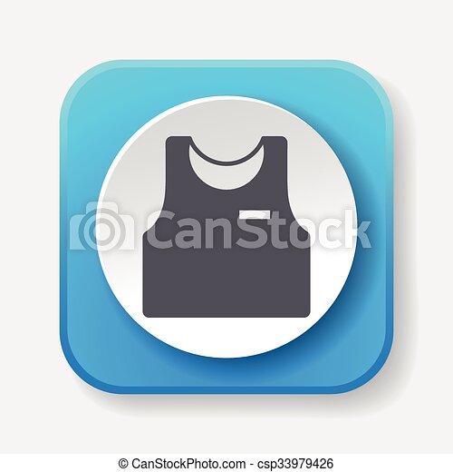 clothes icon - csp33979426