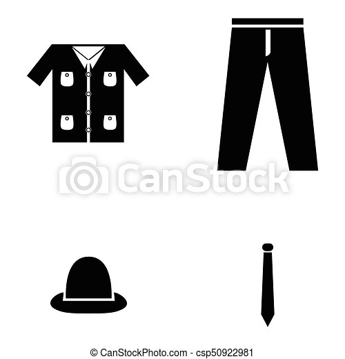 clothes icon set - csp50922981