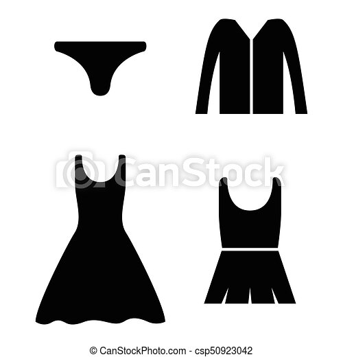 clothes icon set - csp50923042