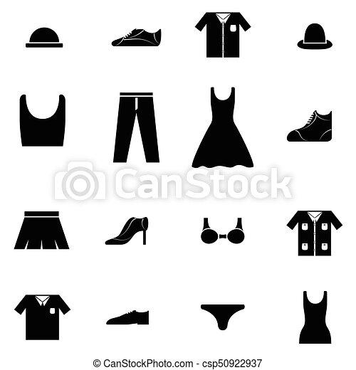 clothes icon set - csp50922937