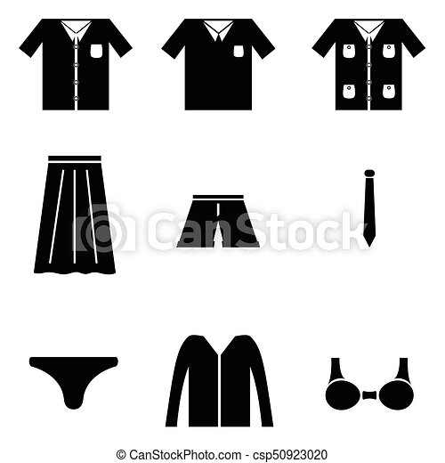 clothes icon set - csp50923020