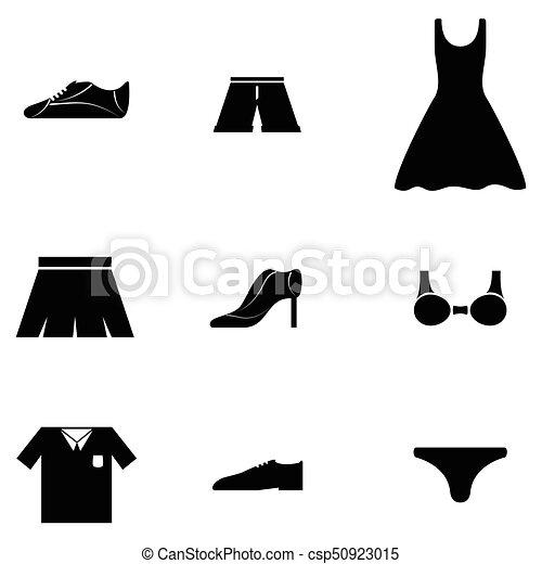 clothes icon set - csp50923015