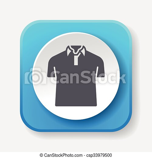 clothes icon - csp33979500