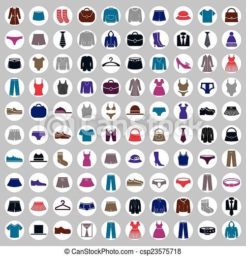 Clothes icons vector collection - csp23575718