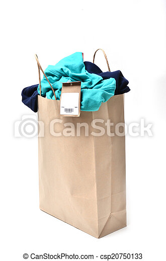 clothes in a shopping bag - csp20750133