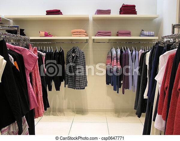 clothes in shop - csp0647771